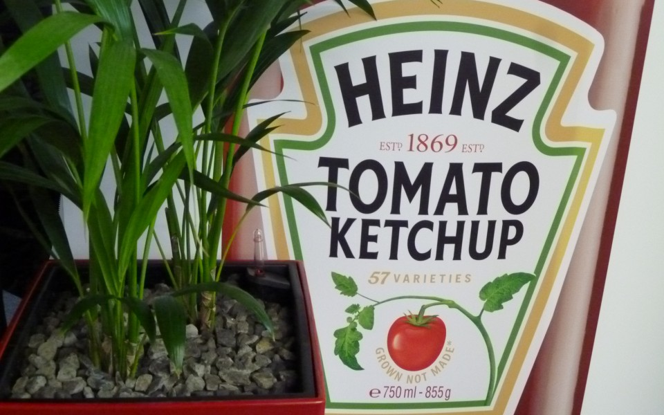 Messepflanzen Düsseldorf Systemgrün für Heinz Tomato Ketschup